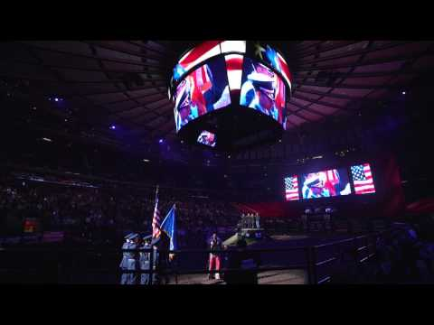 National Anthem at Madison Square Garden - PBR Built Ford Tough Series