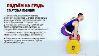 ПОДЪЕМ НА ГРУДЬ. СТАРТОВАЯ ПОЗИЦИЯ / S.Bondarenko(Тяжелая атлетика и CrossFit)