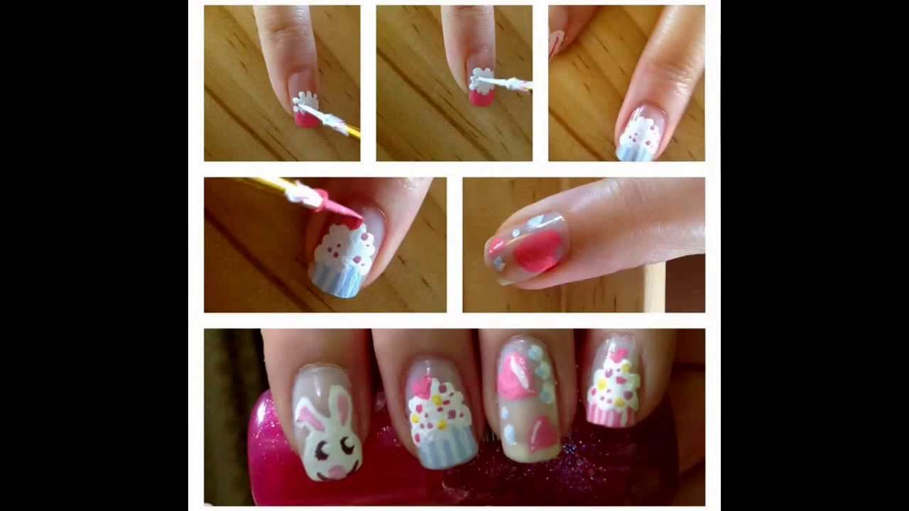 How To Sweet Valentine\'s Nail Art. I used Poster waterproof and no.2 ...