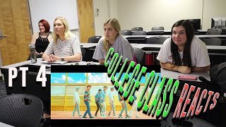 COLLEGE CLASS REACTS TO BTS PT.4 (DNA, SPRING DAY) | NON KPOP FANS REACT