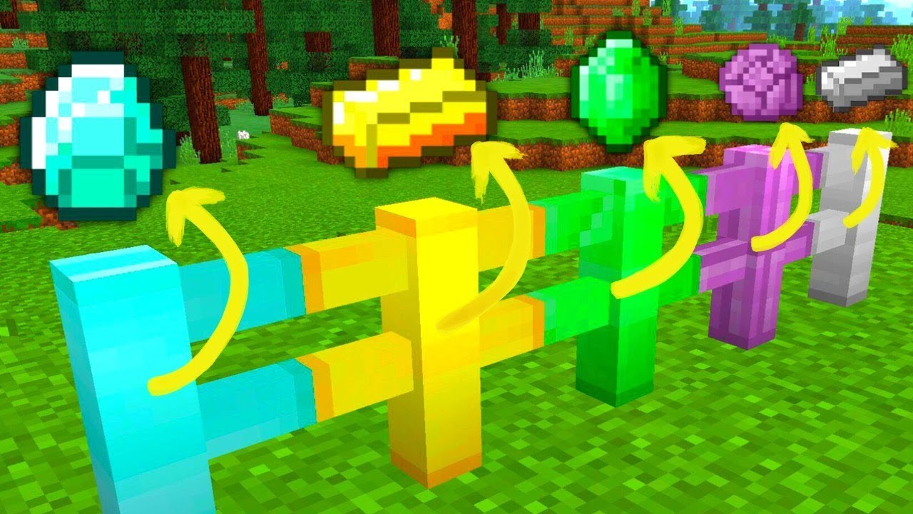how to make a fence in minecraft pe