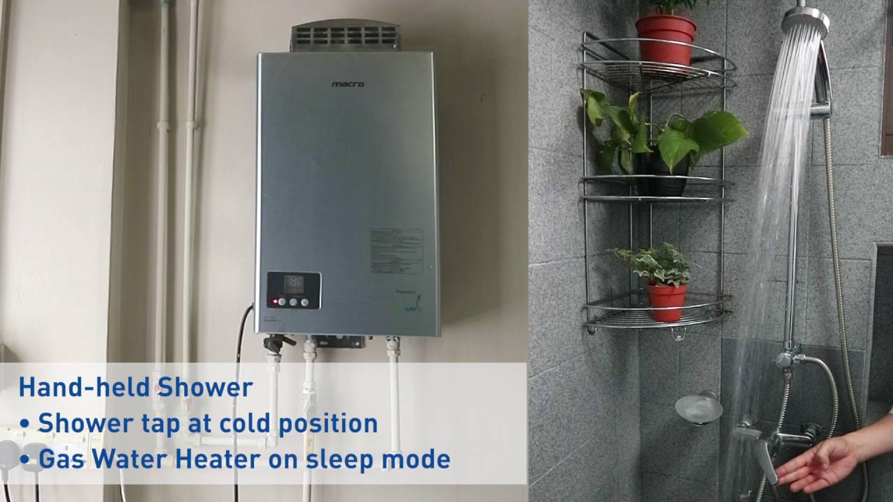live demonstration hdb rain shower connected to a gas water heater youtube. Black Bedroom Furniture Sets. Home Design Ideas