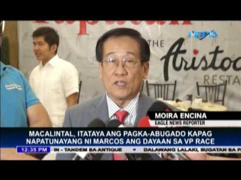 Election lawyer Macalintal confident that there is no VP electoral fraud