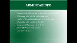 Db2 Tips N Tricks Part 2 - Sysibmadm.admintabinfo