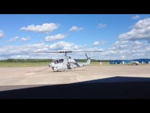 AH-1 Cobra Helicopter Startup & Takeoff from Griffiss