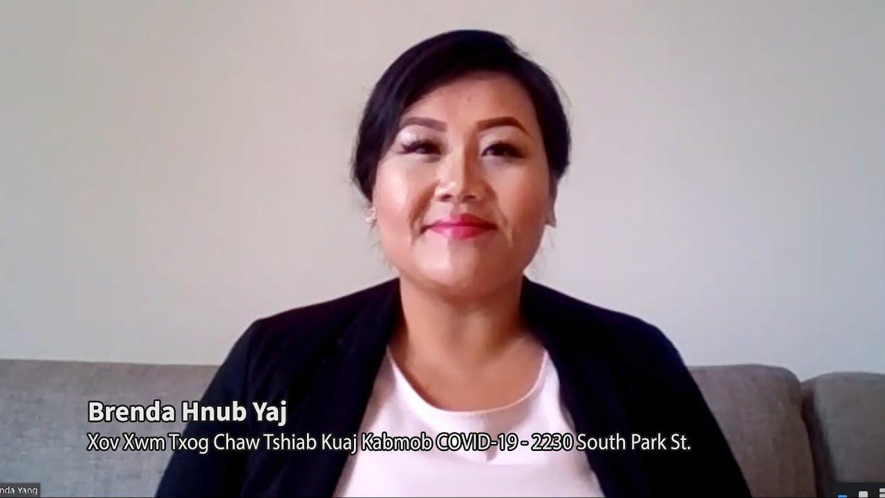 Xov Xwm Txog Chaw Tshiab Kuaj Kabmob COVID-19 (Additional Location for COVID-19 Testing), Brenda Hnub Yaj