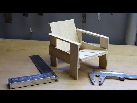Gerrit Rietveld Kratstoel : Diy the making of de miniatuur kratstoel van gerrit rietveld