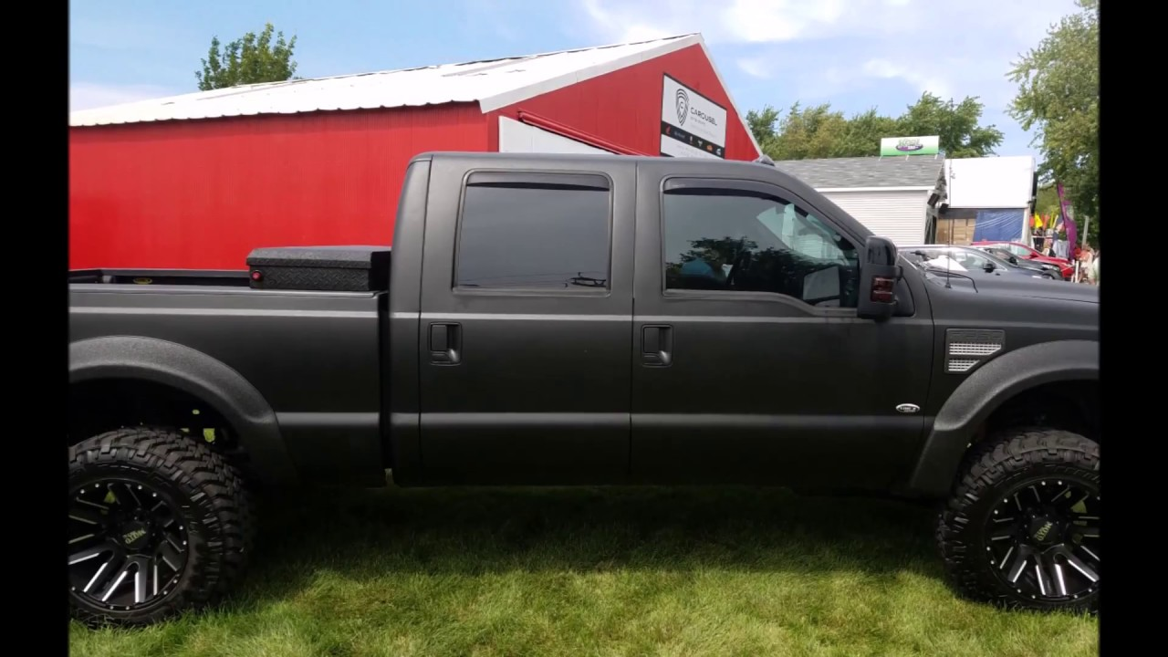 Ford F150 Bed Liner >> Line-X Body Armor 2008 Ford Super Duty - YouTube