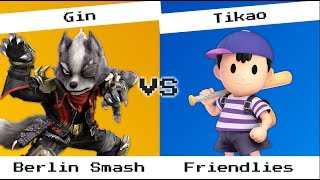 Gin (Wolf) vs Tikao (Ness) - Berlin Smash, friendlies