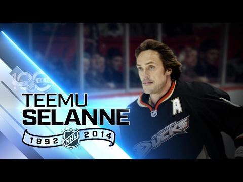 100 Greatest players Teemu Selanne