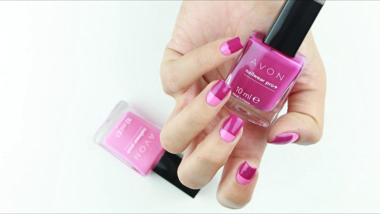 Half Pink Nail Art | Ojemrujumrimelim