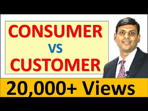 9. Consumer Vs Customer - Marketing Management Video Lecture by Prof. Vijay Prakash Anand