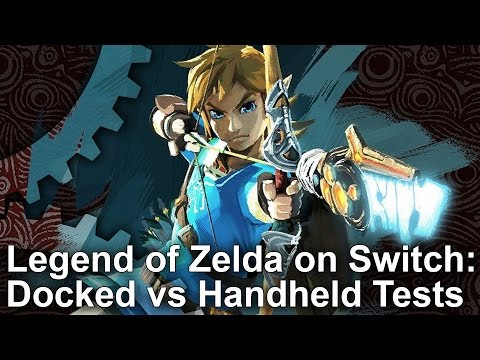 Zelda: Breath of the Wild - Switch Docked vs Undocked Comparison + Frame-Rate Test
