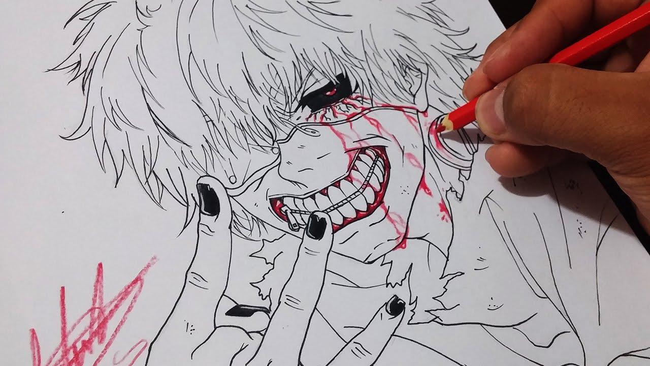 Drawing Ken Kaneki