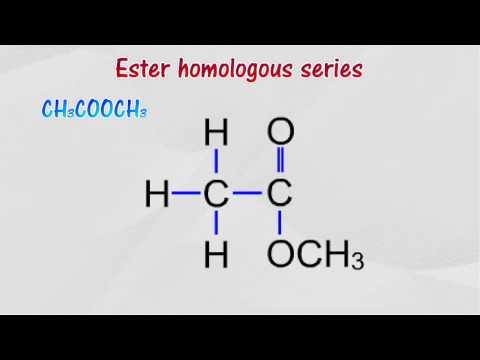 General formula of ester