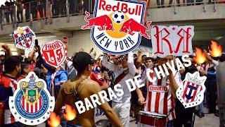 CHIVAS VS RED BULLS NEW YORK 1-0 SALIDA DE LA IRREVERENTE REJA Y AFICIÓN