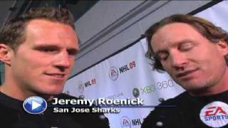 11.12.08 - EA Sports NHL 09 Dion Phaneuf and Jeremy Roenick