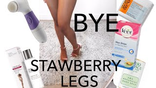 MY CURRENT BODY CARE | SKINCARE ROUTINE FOR STRAWBERRY LEGS | INGROWN HAIRS