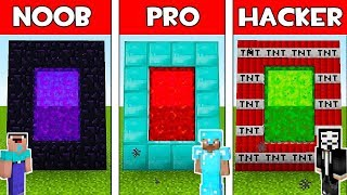 Minecraft - NOOB vs PRO vs HACKER : SECRET PORTAL in Minecraft ! AVM SHORTS Animation