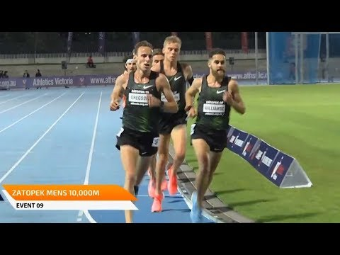 Men's 10000m At Zatopek:10 2018