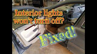 Download Interior lights wont turn off ? Courtesy lights