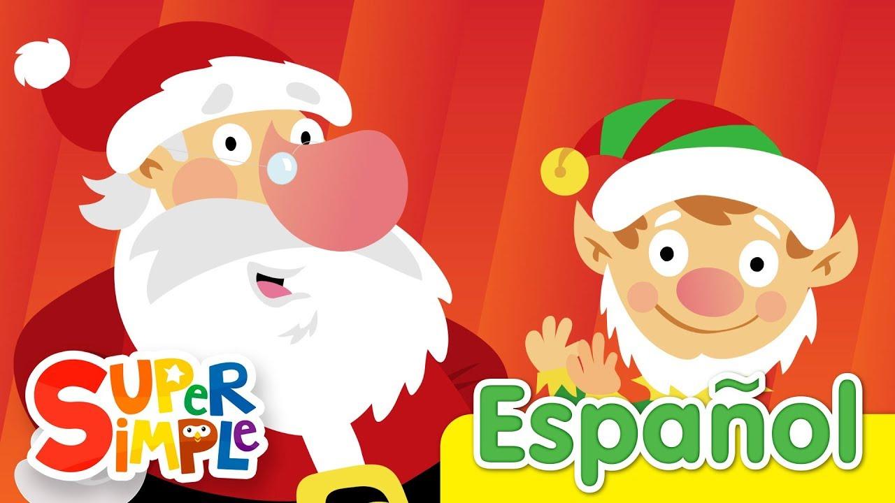 S A N T A Canciones Infantiles De Navidad Super Simple Espanol Youtube