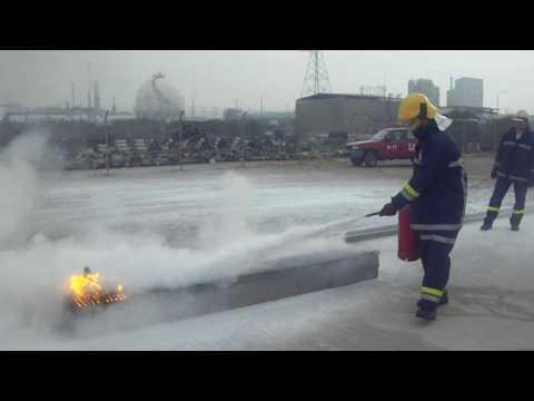 HELLENIC PETROLEUM FIRE EXERCISE 31-03-09 Pt 1
