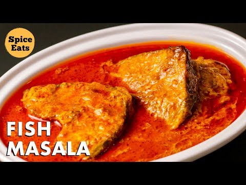 FISH MASALA CURRY | FISH CURRY RECIPE | MASALA FISH RECIPE | ROHU FISH CURRY