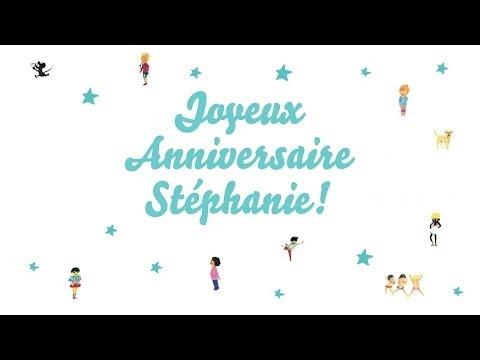 joyeux anniversaire stephanie chanson