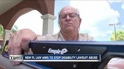 Florida lawmakers pass law aimed at crippling ADA lawsuit abuse