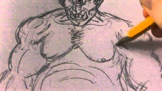 How To Draw A Cyclops Creature Drawing