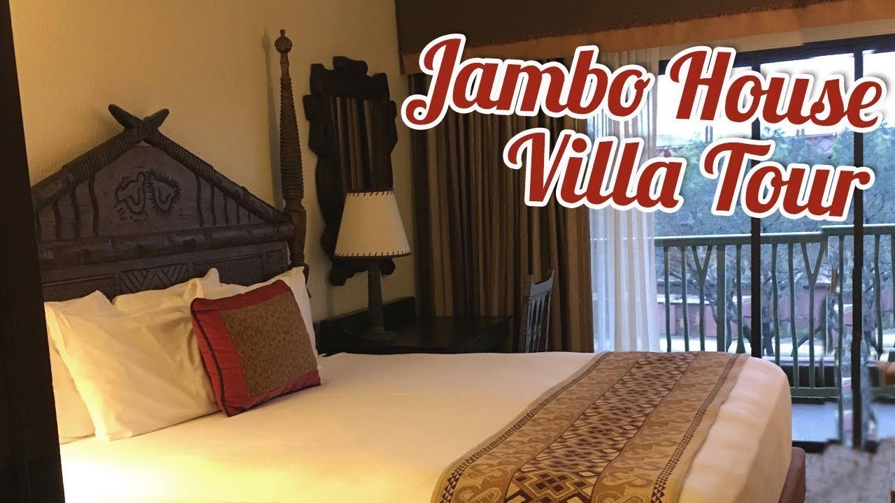 Disney 39 S Animal Kingdom Lodge 1 Bedroom Villa Tour Jambo House Youtube