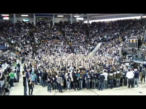 Utah State Basketball - 2009-10 WAC regular season title celebration (Part 1/2)