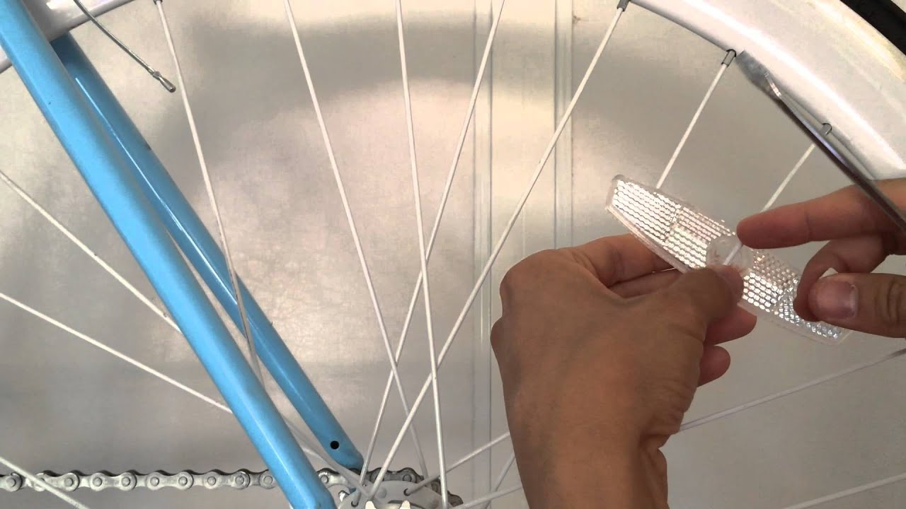 How To Attach Your Spoke Reflector Youtube