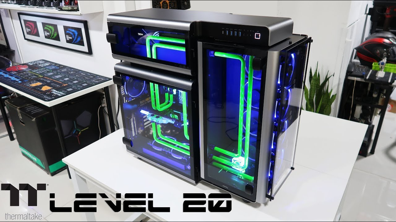 Custom Pc Build#62 `Level 20` An Insanely Elegant and Unique Thermaltake  Case