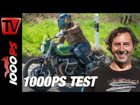 "1000PS Test - BMW R nineT Scrambler mit 21 Zoll Vorderrad - ""Green Hell"" - Umbau"