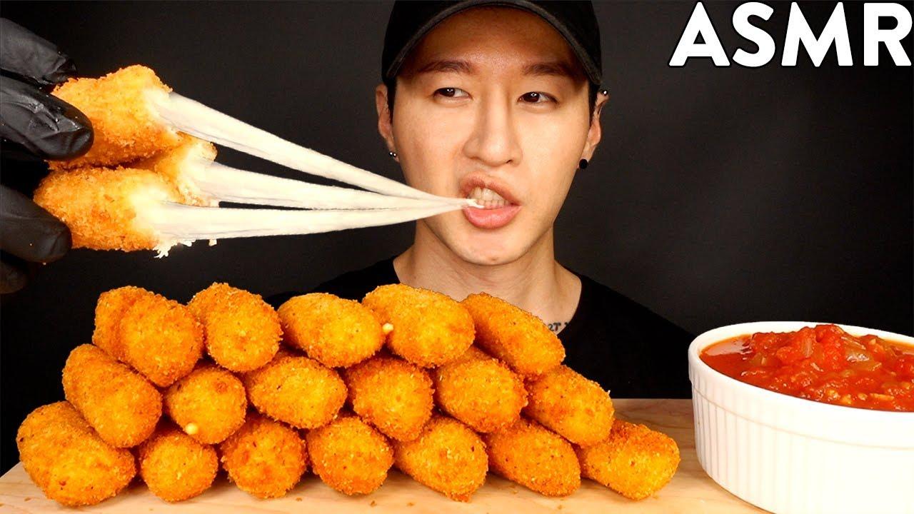 ASMR MOZZARELLA CHEESE STICKS MUKBANG (No Talking) COOKING & EATING SOUNDS | Zach Choi ASMR