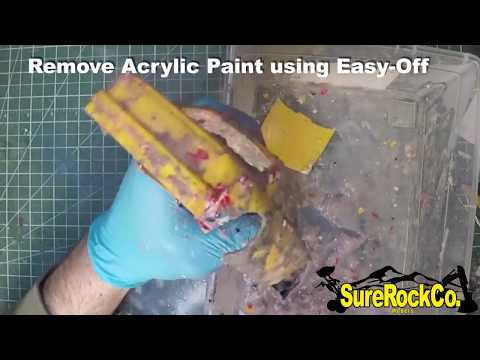 How To REMOVE PAINT EASY-OFF (Enamel, Acrylic, Lacquer + More!)  Oven Cleaner scale models