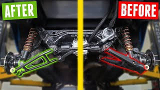 homepage tile video photo for Fabricating Custom TUBULAR CONTROL ARMS for the AWD MIATA!