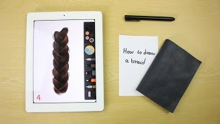 How to draw a braid hair on ipad with: Paper by 53