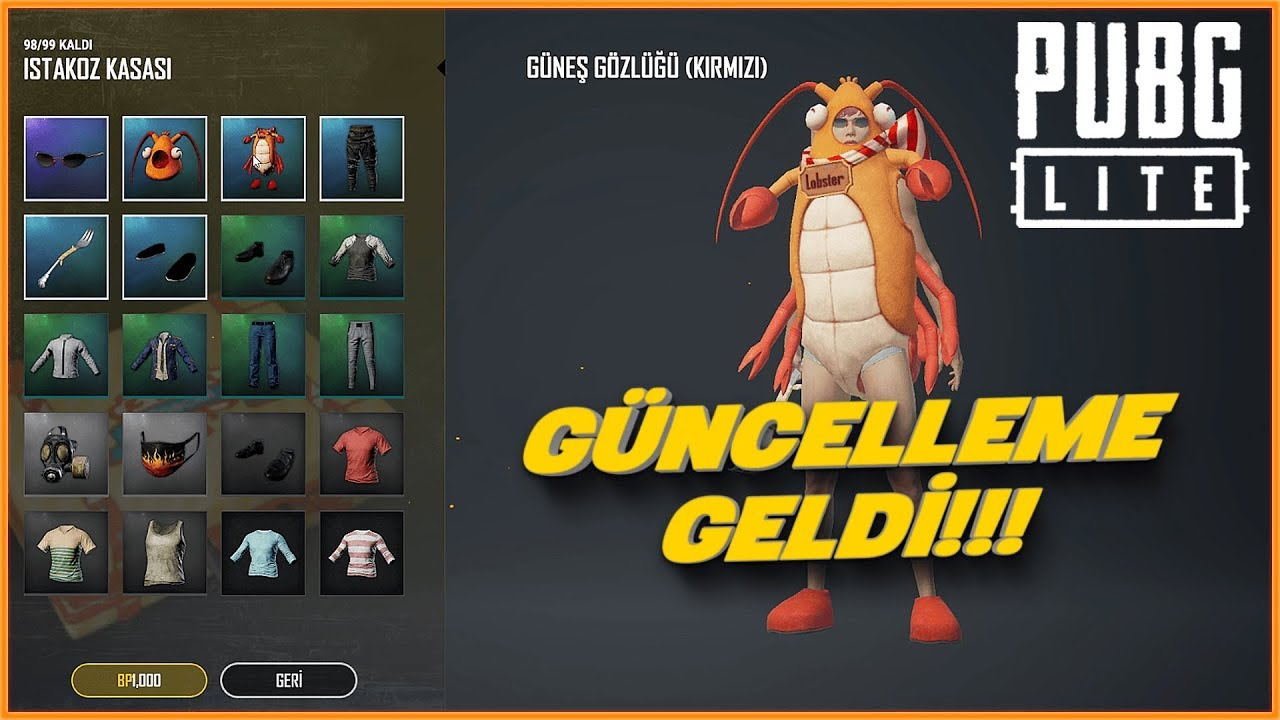 YENİ GÜNCELLEME GELDİ - PUBG Lite