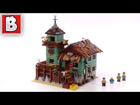 Amazing LEGO Ideas Old Fishing Store Set 21310 | Unbox Build Time Lapse Review