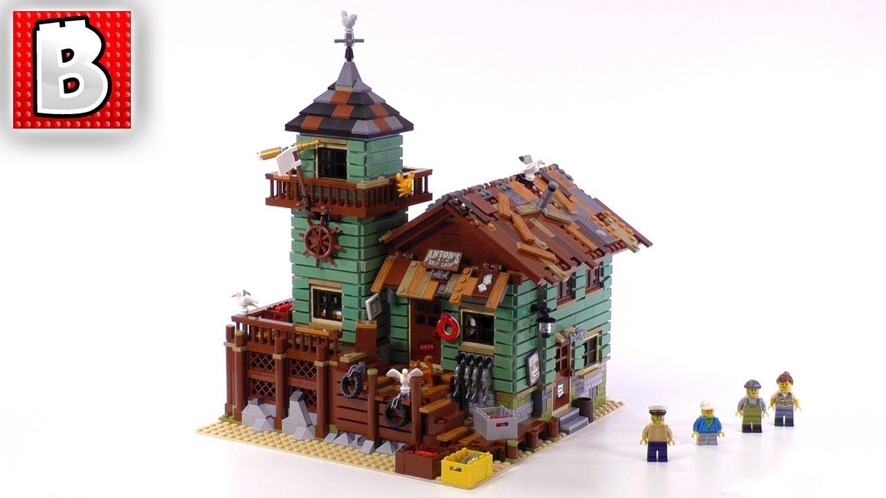 Amazing lego ideas old fishing store set 21310 unbox for Lego old fishing store