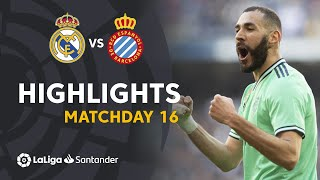 Highlights Real Madrid vs RCD Espanyol (2-0)