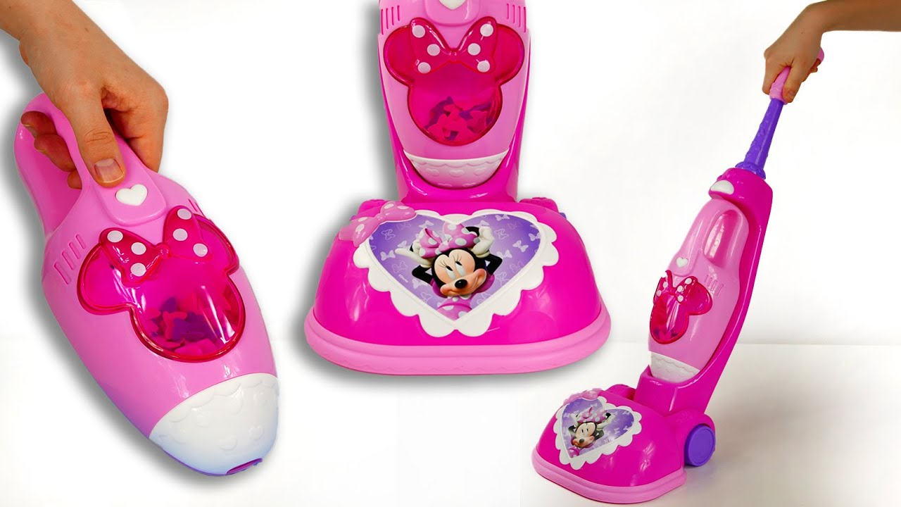Minnie Mouse Toys For Toddlers : Minnie mouse vacuum cleaner toys playset for kids youtube