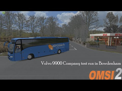 Omsi 2: Bowdenham V4 Route 40 to Oakwood Green Volvo 9900 Company Test drive Aircoach Livery