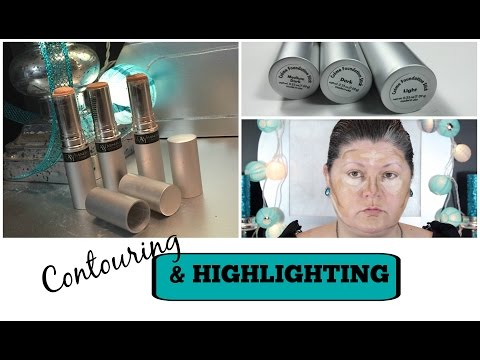 contouring-&-highlighting-|-sculpting-with-foundation
