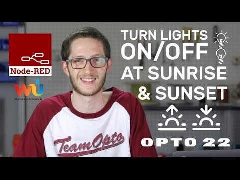 Use Node-RED With Weather Underground API To Turn Lights On/Off At Sunrise/ Sunset