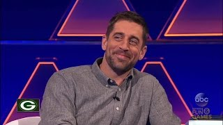"Aaron Rodgers defeats Erin Andrews on ABC's ""The $100,000 Pyramid"""