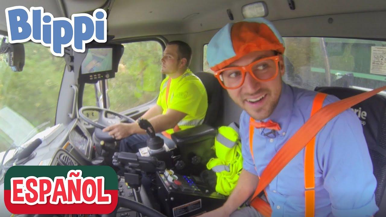🚚 Blippi recicla con los camiones de la basura 🚚 | Videos de vehículos para niños